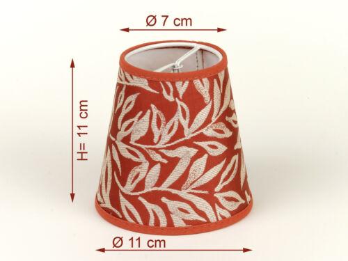 Lampenschirm  Aufsteck braun  Ranken  Warme Farben Klemmschirm E14 Herbstlich