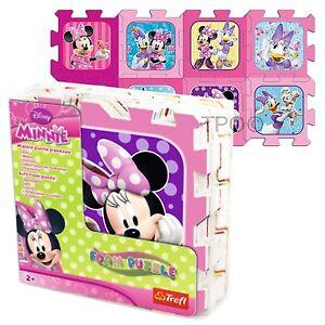 Trefl 8 Piece Baby Kids Infant Girls Soft Foam Mat Minnie Mouse