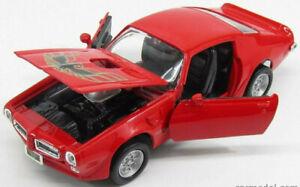 Pontiac-Firebird-1973-Modelo-De-Auto-diecast-escala-1-24-die-cast-Miniatura-Rojo