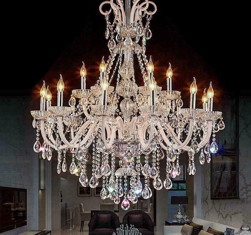 Modern Led Crystal Chandeliers For Living Bedrooms Luxury Party Wedding Light Ebay