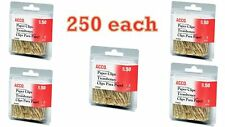 Value Pack Of 250 Acco Gold Tone Jumbo Paper Clips Smooth Finish Steel Wire