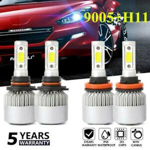 4pcs-9005-H11-3830W-540000LM-CREE-LED-Headlight-Bulb-Kit-Hi-Low-Beam-6000K-set