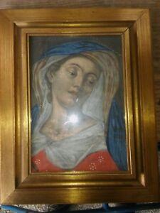 Gemaelde-weinende-Madonna-um-1800