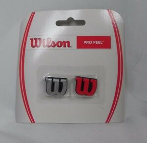 NEW Lot of 2 Packages Wilson Pro Feel Shock Dampener Silver & Red (G1-34)
