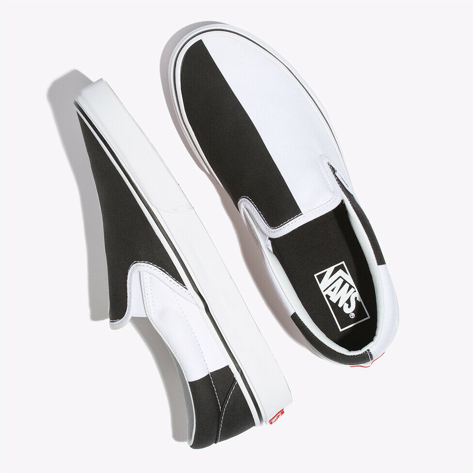 Vans Monochrome Slip On shoes Sneakers Black White VN0A38F7VMB US Size 4-13