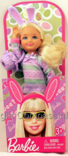 NEW Barbie Sister Kelly Easter Chelsea Blonde Doll
