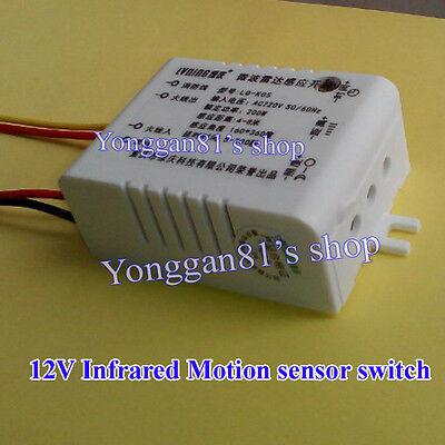 12V Infrared Body Motion Sensor PIR Sensing Switch Microwave Radar Sensor Switch