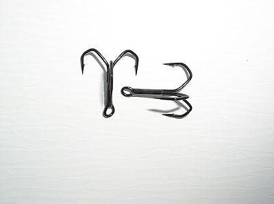 3 Profi Blinker Drillinge schwarz Gr.1 6 Treble Hook 4 2 sehr beliebt 8