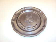 "Antique 9"" French Pewter Etain d'Art ""TODIS WALLON"" Dish/Tray- Galerie Mathieu"