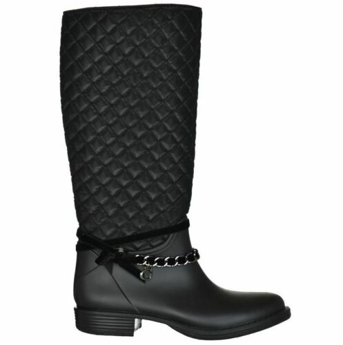 GUESS Damen Schuhe Stiefel Regenstiefel Gummistiefel RALAN schwarz Gr 35-41