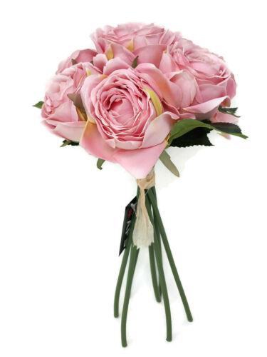 7 Tête Artificielle Ranunculus Fleur ROSE Bouquet x 28 cm-Choix de Couleurs