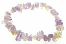 Ametrine Gemstone Chip Crystal Bracelet