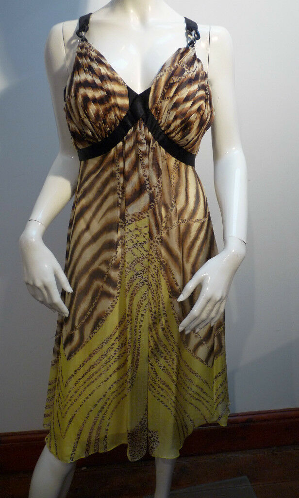 DUSK ANIMAL PRINT DRESS     RET    BNWT  or 10   SEXY