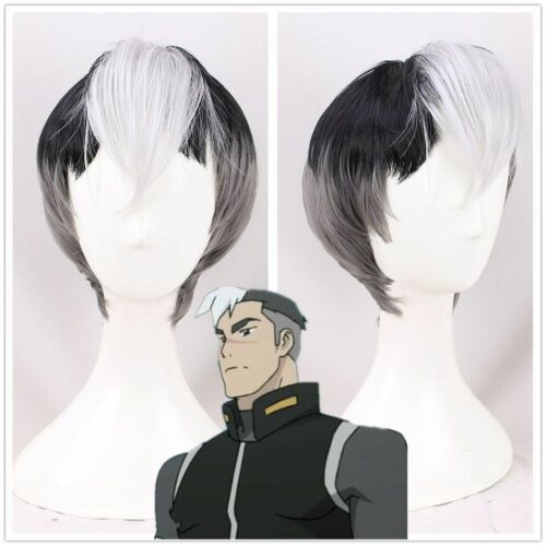Voltron Defender of the Universe Shiro Gray Costume Cosplay Hair Wigs