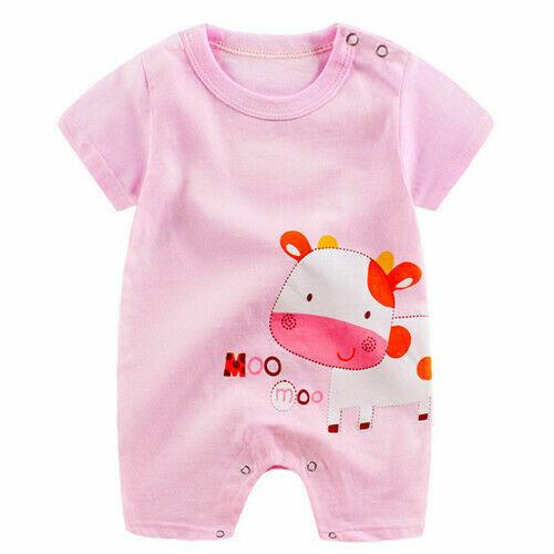 Newborn Infant Baby Boy Girl Kids Cotton Romper Jumpsuit Bodysuit Clothes Outfit