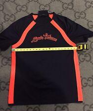 100% AUTHENTIC LOUIS VUITTON T-SHIRT ORANGE & NAVY RARE SIZE XL