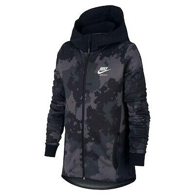 Enfants Nike Airmax Camouflage Polyester Fermeture Éclair Sweat Veste AJ0115 010 | eBay