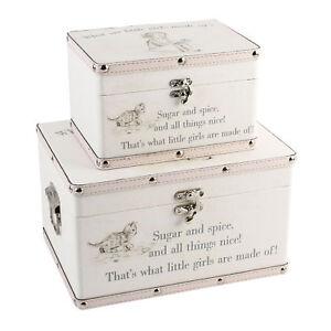 Bebe-Fille-Cadeau-What-Sont-Petit-Fait-de-Deux-Rangement-Boites-Souvenir