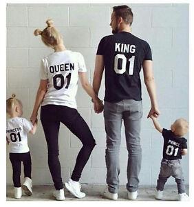 2dd3a71805 Hot Couple T-Shirt King & Queen Matching Set Sweet Family Love ...