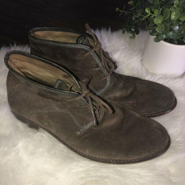 Fly London Men's Brown Nubuck Suede Ankle Boots Shoes Size 42 EU 9 US