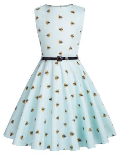 Vintage Kinder Mädchen Kleid 50s Jahre 60s Jahre Style Blumenmuster Swing