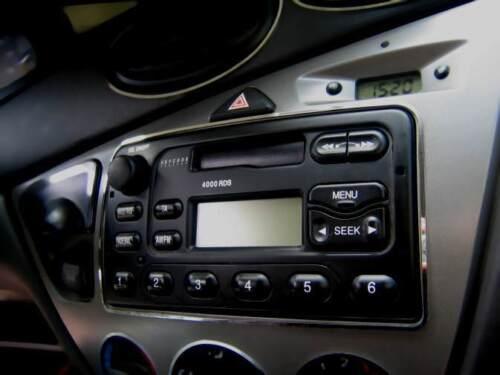Edelstahl poliert D Ford Focus MK1 Chrom Rahmen für Radio