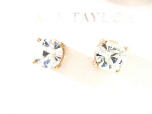 8abb4458748ed Ann Taylor Womens solitaire round Brilliant Crystal stud earrings ...