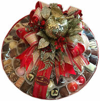 Assorted Hand Made Belgian Chocolate Platter 14 1500g Christmas Decorated
