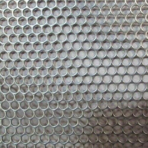"""12/"""" X 12/"""" 18 GAUGE 304 STAINLESS PERFORATED SHEET 5//32 HOLES"""