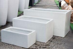 Outdoor-Garden-Patio-Planter-Pot-Rectangle-Trough-Modstone-White-Terrazzo