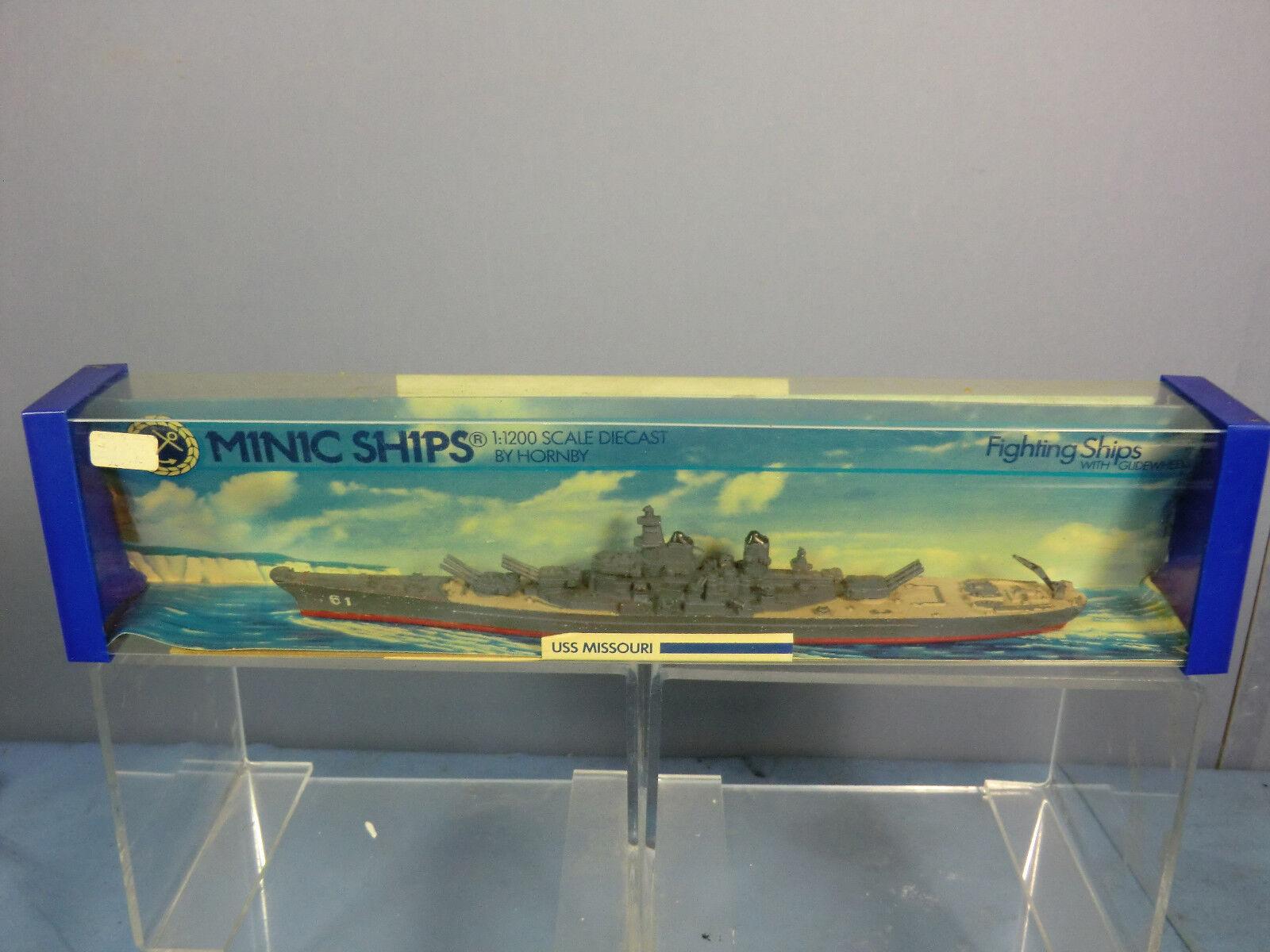 TRI ANG HORNBY MINIC Navi M743 USS  Missouri  Nuovo di zecca con scatola