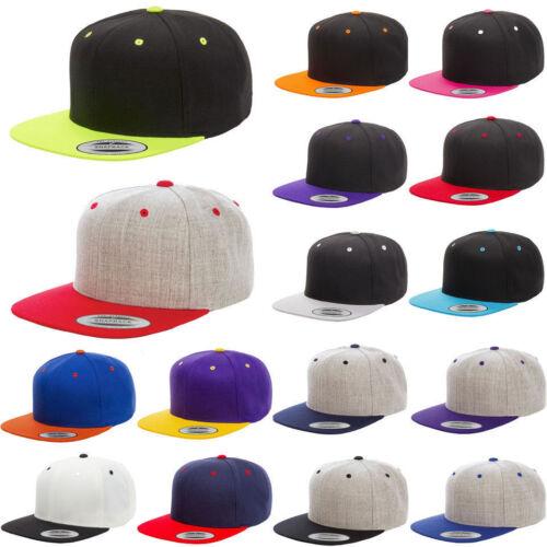 ss Flexfit 6089MT Yupoong Classic 2 Tone Snapback Baseball Blank Plain Hat Cap