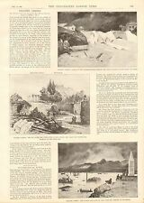 1896 ANTIQUE PRINT-ARTICLE-GREECE- FLOODED ATHENS