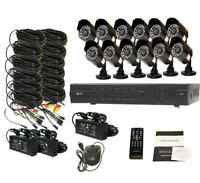 16ch H.264 D1 Hdim Video Dvr Security Surveillance 800tvl In/out Ir Cameras 1tb