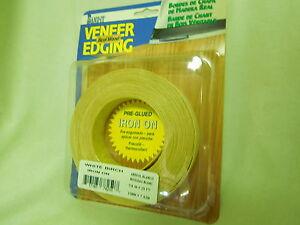 """Wood Veneer Edgebanding Edge Banding Tape Pre-Glued 3//4/"""" x 25/' Birch"""