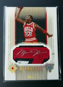 more photos ad817 58bfe Details about MICHAEL JORDAN 2004-05 UD ULTIMATE COLLECTION PATCH AUTO  #6/25! JERSEY AUTOGRAPH
