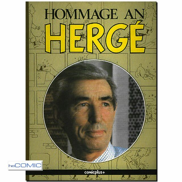 Hommage an Hergé TIM und Struppi Biographie COMICPLUS 1986 LIGNE CLAIRE 80er