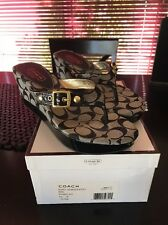 Coach Gracy Black White Slipper Sandal Shoe Size 9 M Worn Once