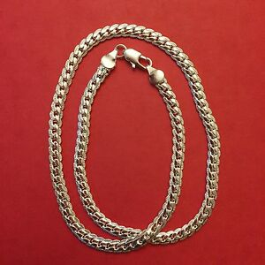 New-Unisex-Braid-Inspired-Silver-Chain-Necklace-Free-Gift-Box