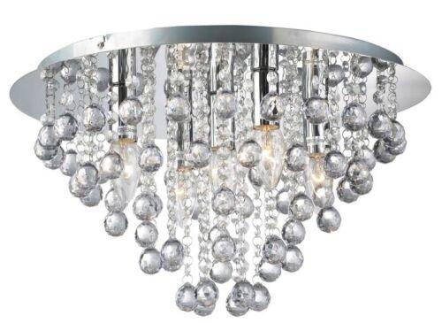 Round 3 Light Chrome Ceiling Light