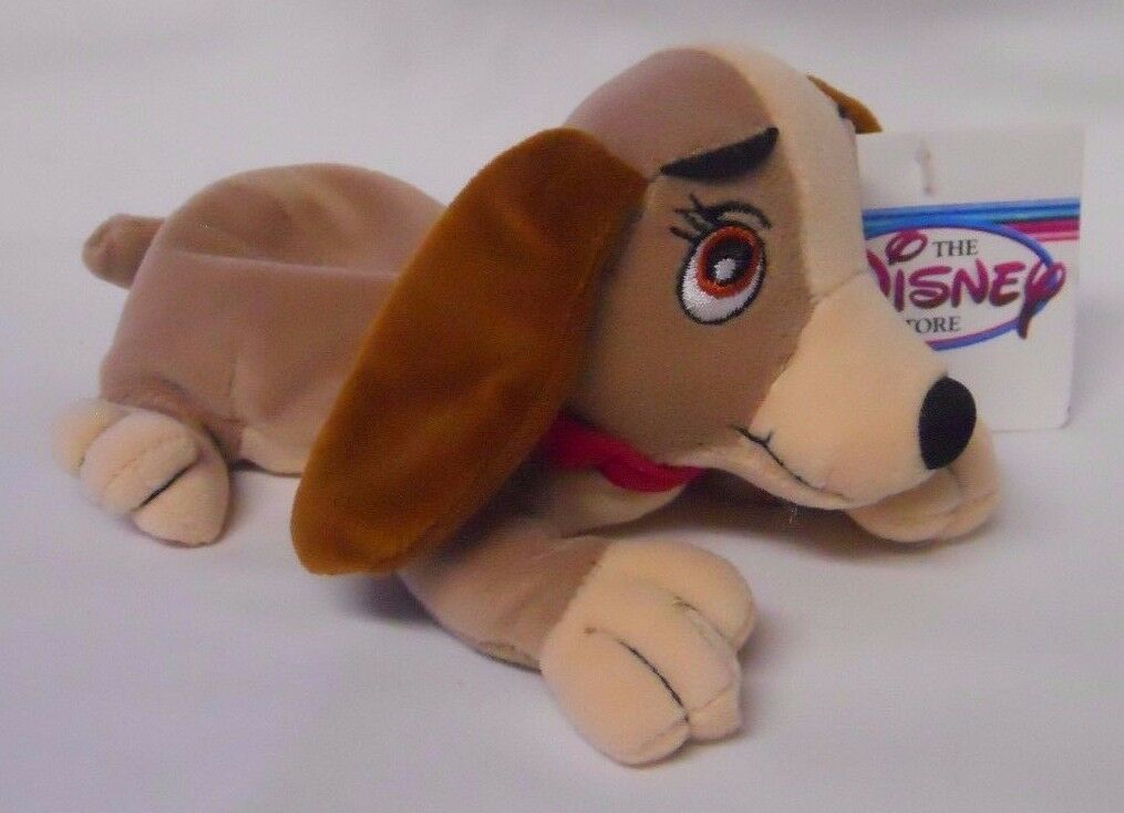 And Trusty Mint With Tags Lady Jock Disney Retired Lady And The Tramp Complete Set Of 4 Plush Bean Bag Dolls Including Tramp Stuffed Animals Plush Toys Games