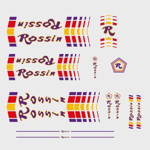 Transfers n.52 Rossin Bicycle Frame Stickers Decals