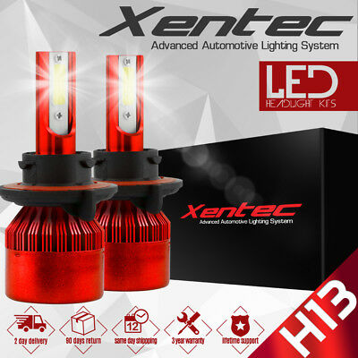 Xentec 488W CREE H13 9008 Hi//Lo beams LED headlight Kit 48800LM 6000K bulb Pair