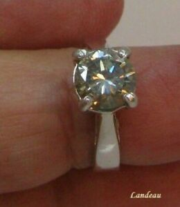 1-91-ct-White-Yellow-Diamond-Silver-Ring