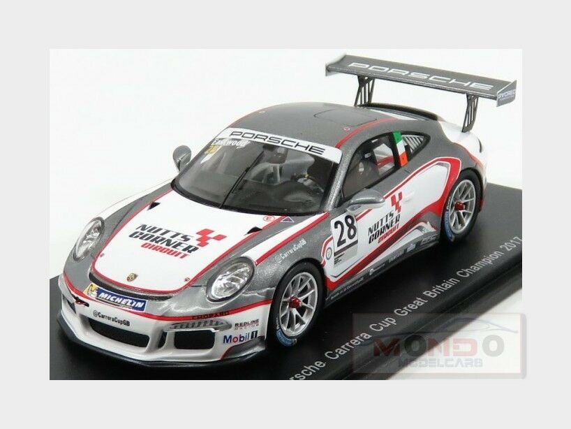 Porsche 911 991 Gt3 Gt3 Gt3 Champion Carrera Cup Great Britain 2017 SPARK 1 43 UK003 c200a0