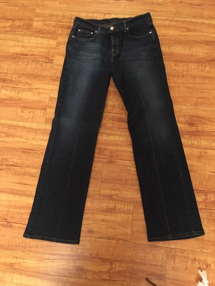 Gorgeous David Bitton StretchyDriven-X Button Fly 32 X 33 Dark bluee Denim Jeans