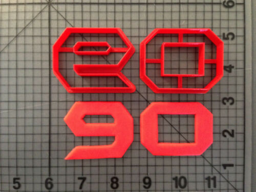 Bat Font Number Cookie Cutter Set