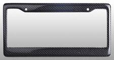 REAL 100% CARBON FIBER LICENSE PLATE FRAME TAG COVER ORIGINAL 3K With Free Caps