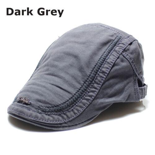 Retro Mens Cotton Embroidery Painter Berets Casual Outdoor Cap Visor Hat