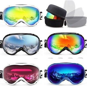 2137b315d73945 Anti-fog and 100% UV Protection Ski Snowboard Snow Goggles for Men ...